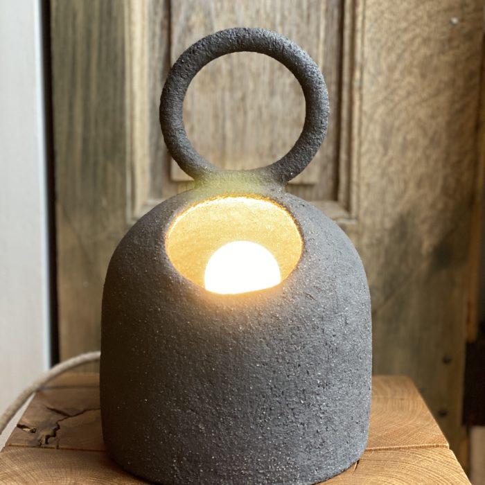 LAMPE BULLE EXPLOREUR GRÈS NOIR