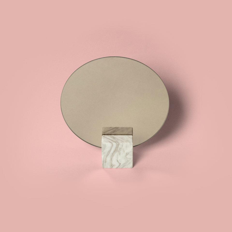 Miroir marbre carré