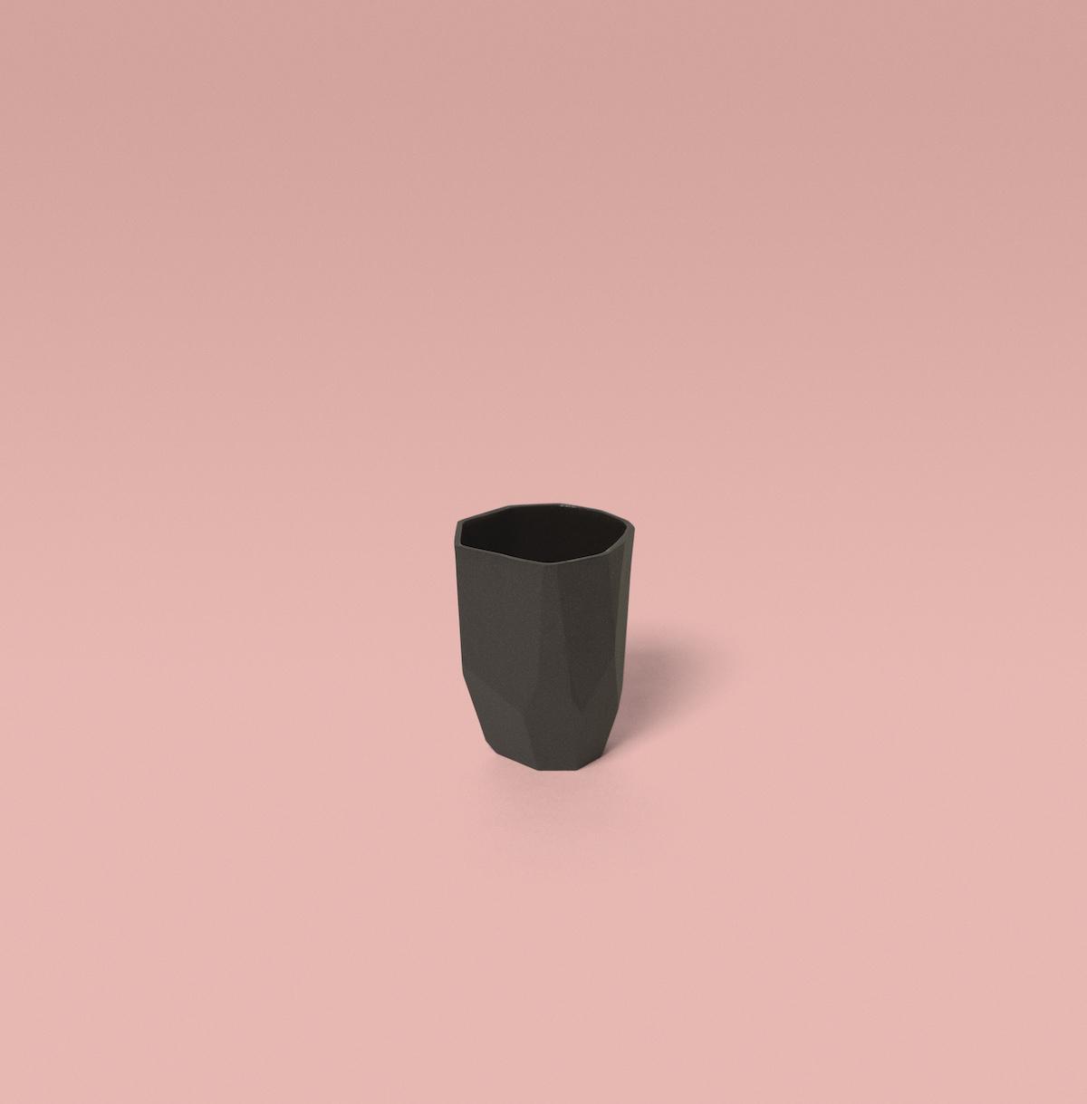 tasses à expresso kaolin noir