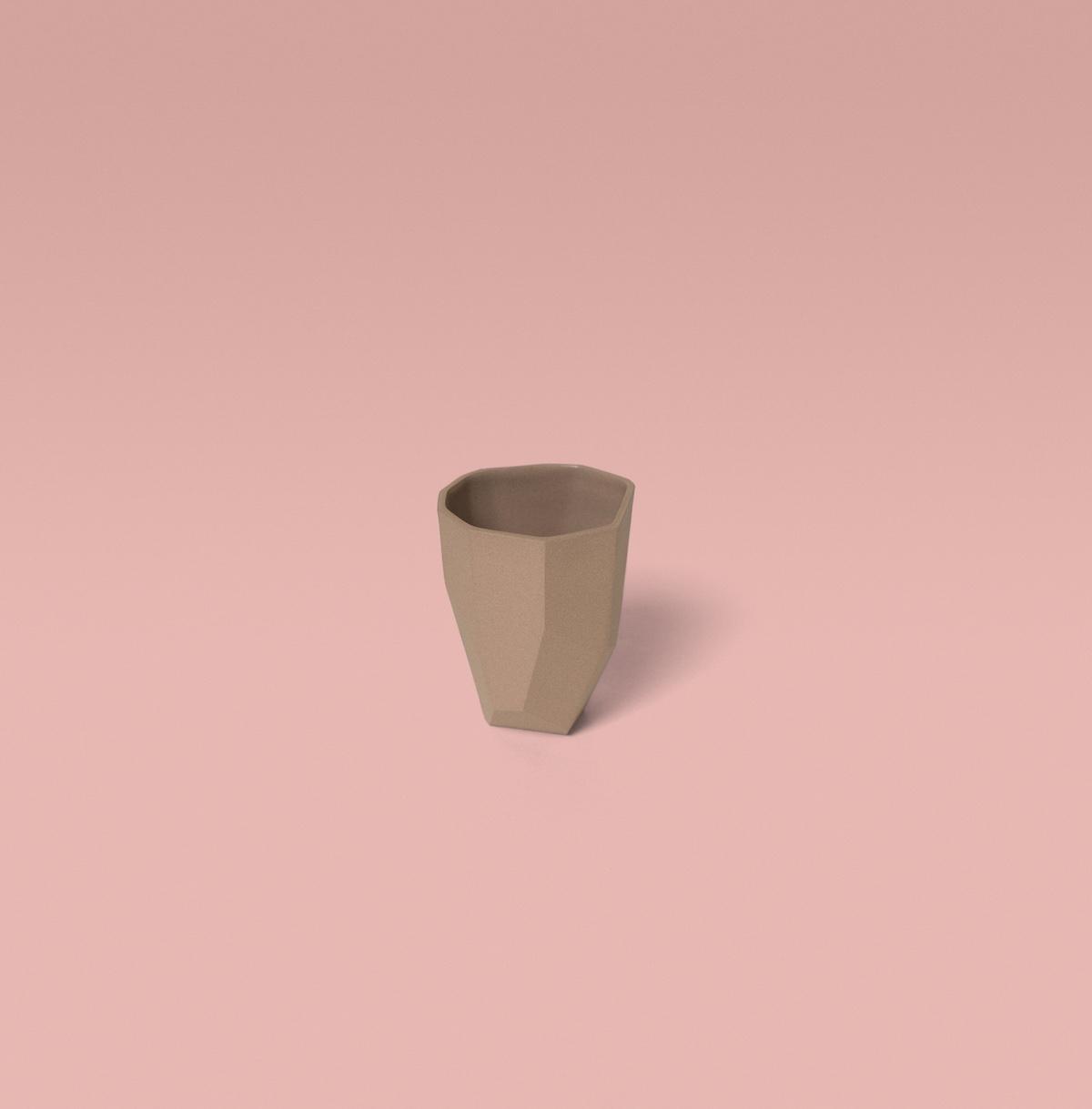 tasses à expresso kaolin rose