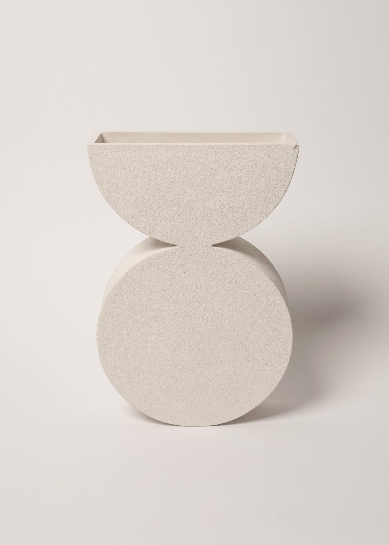 circulo semi circulo vase