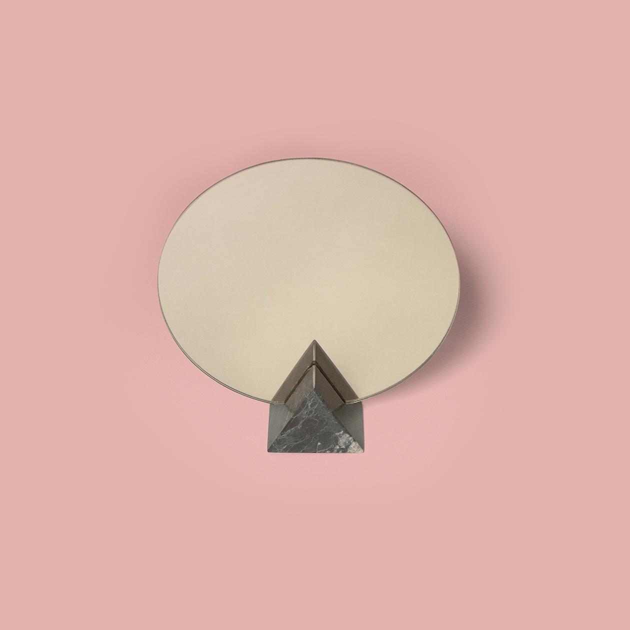 Miroir marbre triangle