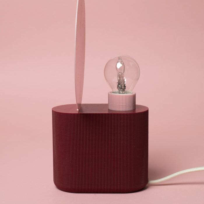 lampe neptune bordeaux / rose