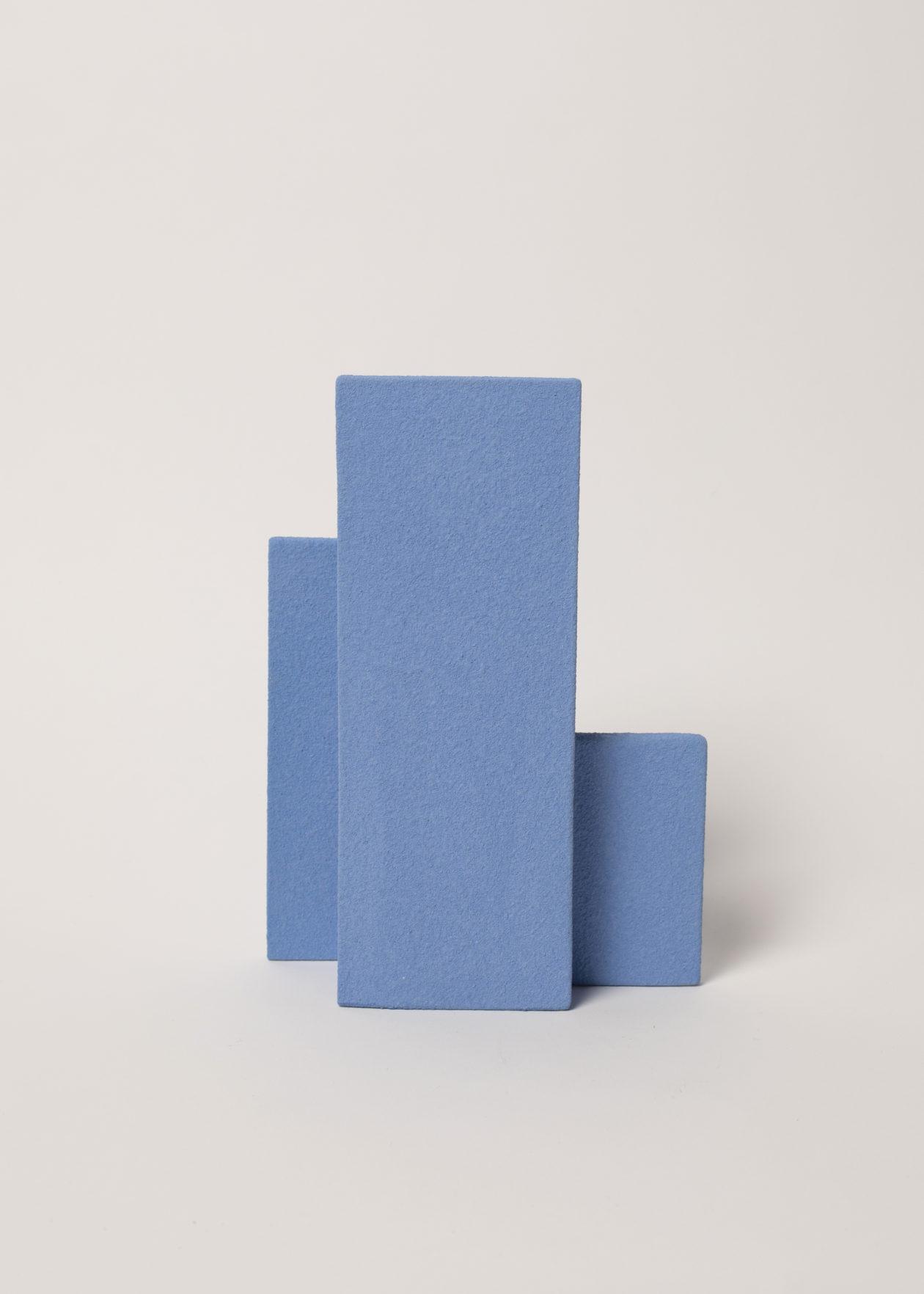 vase block S bleu foncé