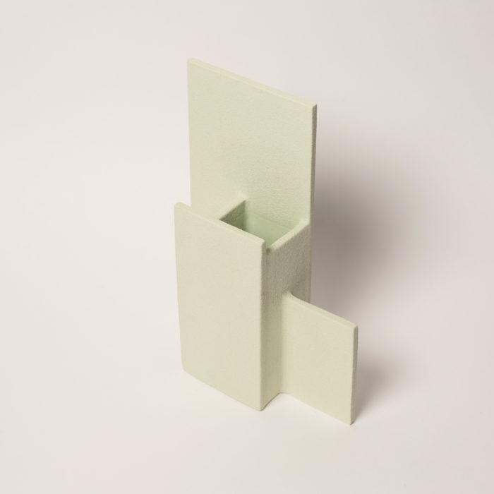 vase block M vert clair