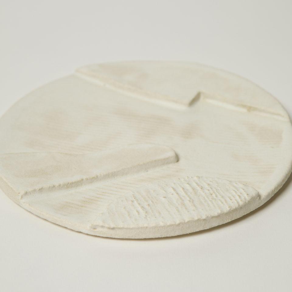 assiette orb beige 3 motifs