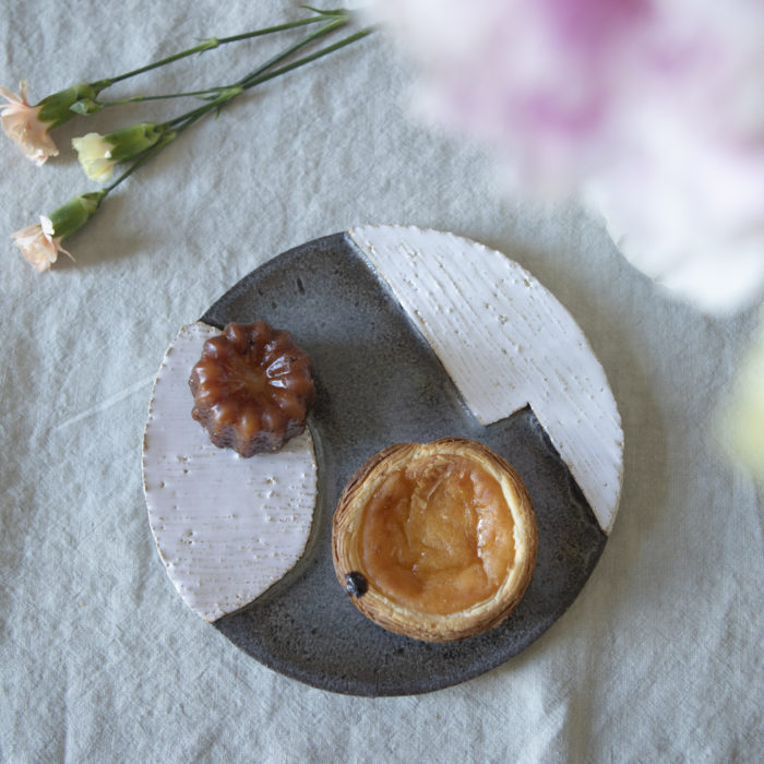 Assiette ORB bleue 2 motifs