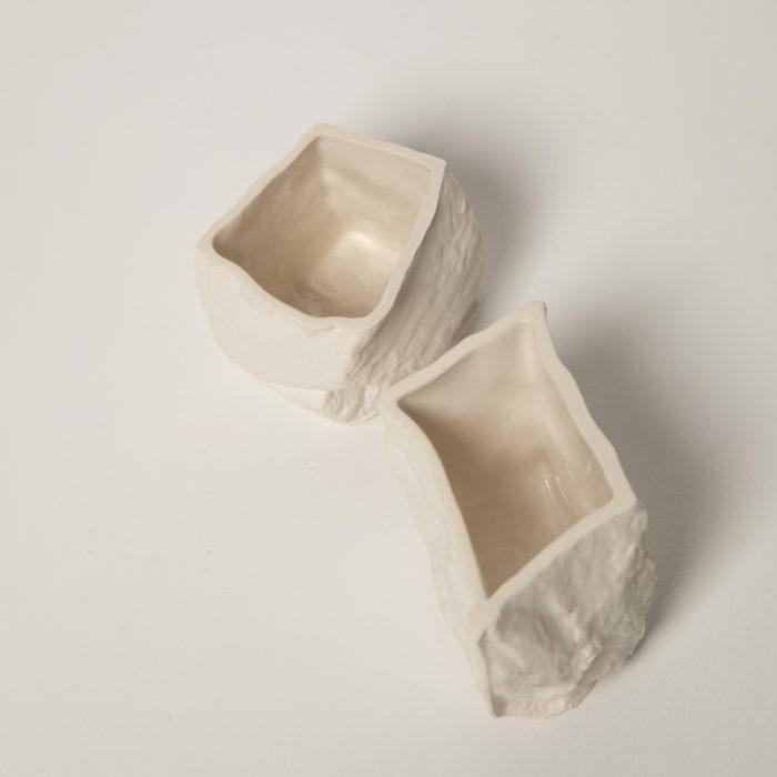 tasses Craig Barrow blanc / blanc